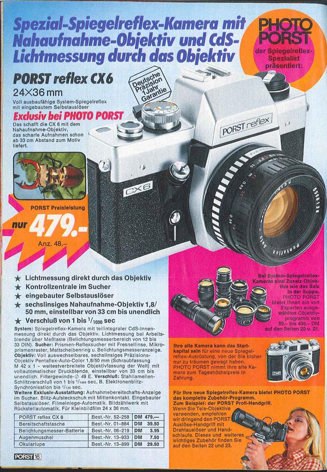 Porst Reflex CX6