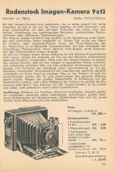 Rodenstock Imagon-Kamera