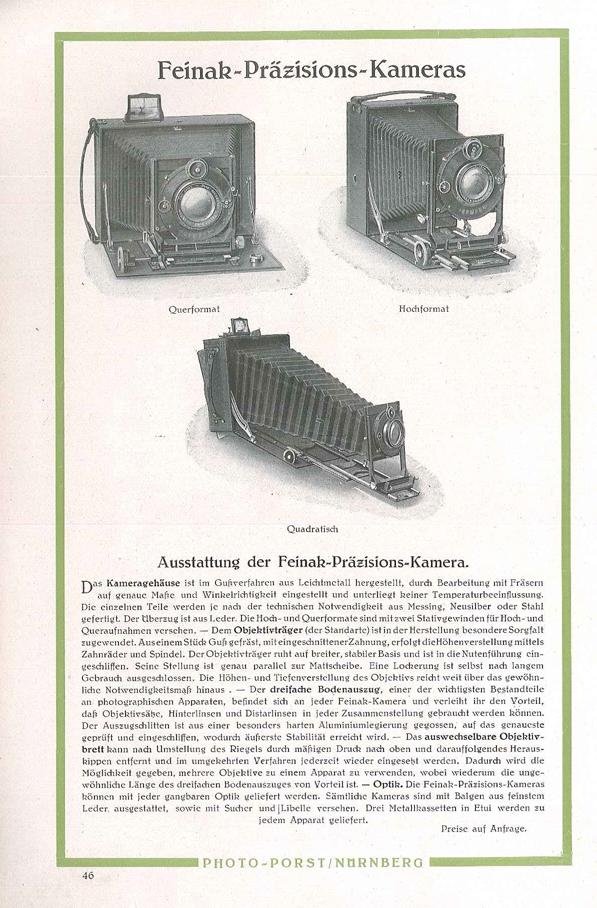 Feinak-Werke Präzisions-Kamera Verticale