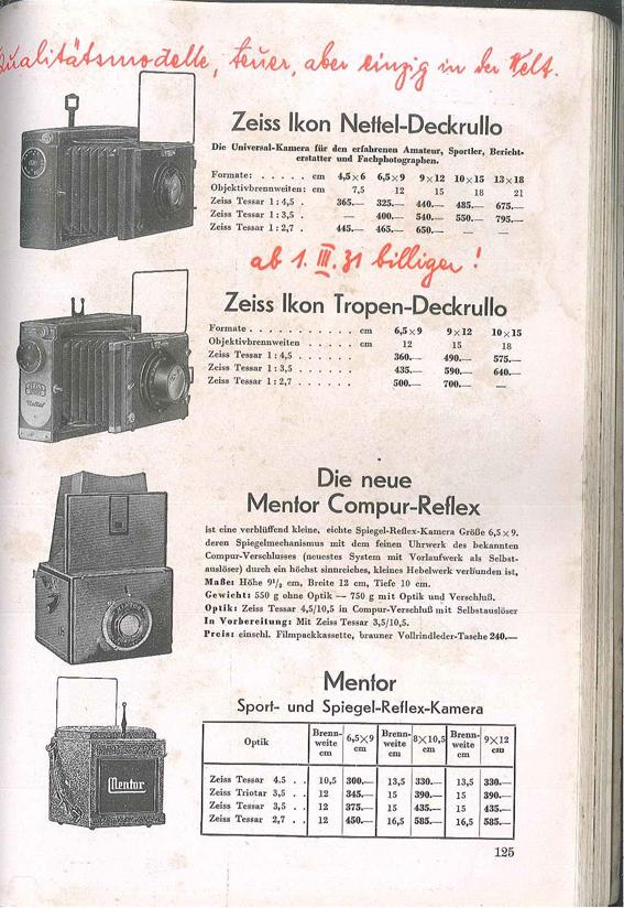 Mentor Compur-Reflex 310