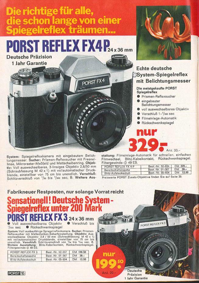 Porst Reflex FX4