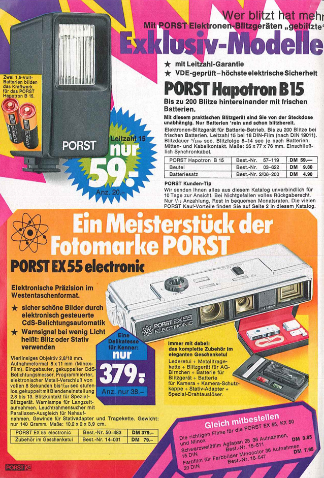 Porst EX55 Electronic