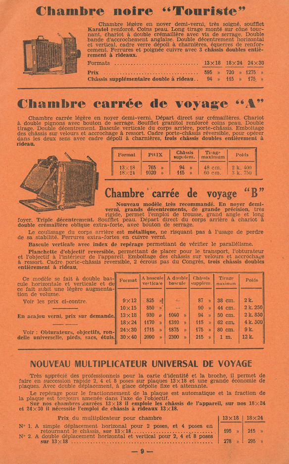 Cabossel et Hude Chambre Carrée de Voyage B