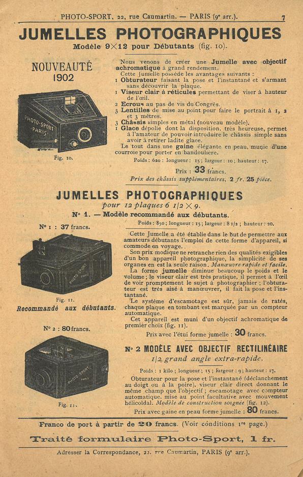 Photo-Sport Jumelle Photographique n°2