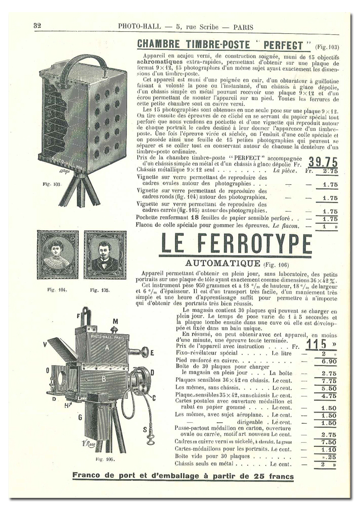 Photo-Hall Ferrotype Automatique