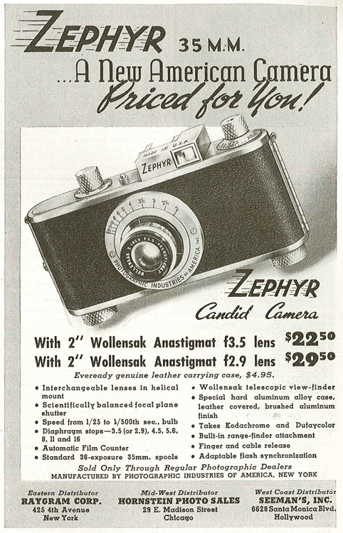 Photographic Industries of America Zephyr