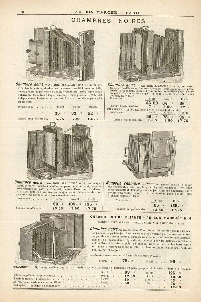 Au Bon Marché Chambre Noire n°3 Vintage cameras collection by ...
