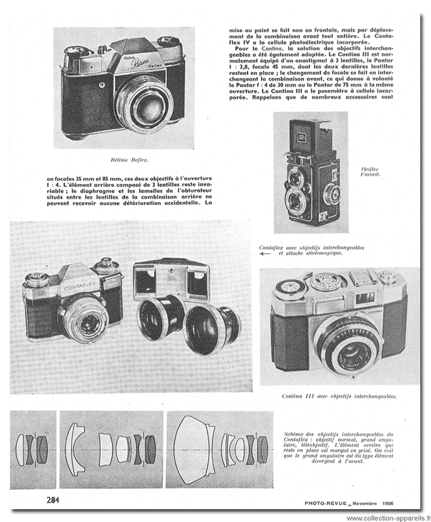 Zeiss Ikon Contaflex IV Vintage cameras collection by